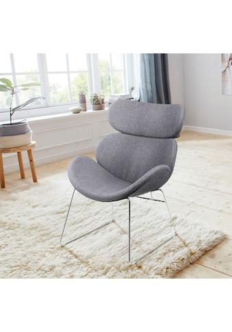 andas Loungesessel »Chiara«, in unterschiedlichen Bezugsqualitäten und Farbvarianten, mit einem schönen Metallgestell, Sitzhöhe 40 cm kaufen