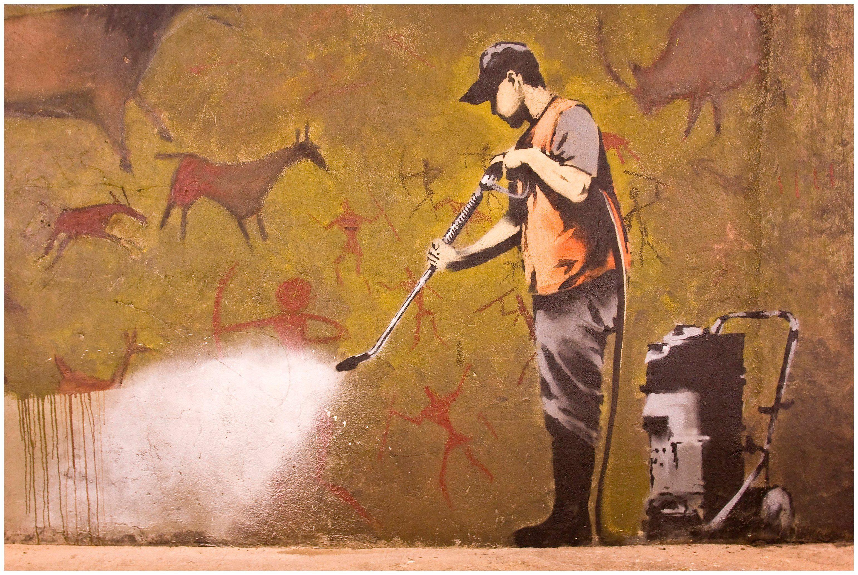 Image of Art & Pleasure Acrylglasbild »Cleanmaster«, Tiere-Menschen