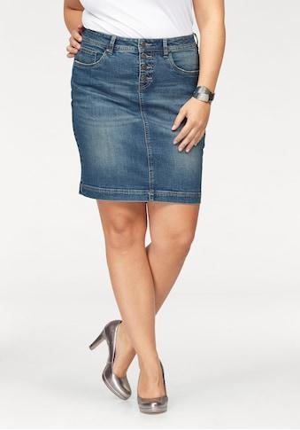Arizona Jeansrock »mit sichtbarer Knopfleiste«, High Waist kaufen