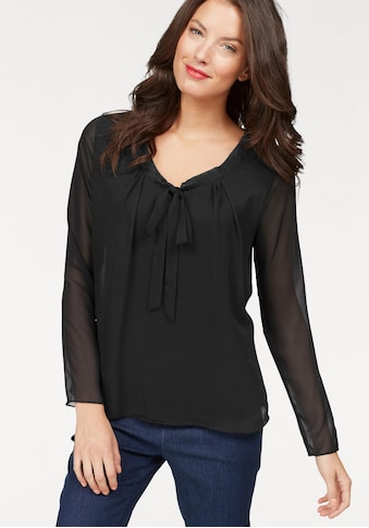 Aniston SELECTED Blusenshirt, mit gedoppeltem Vorderteil und Schluppe kaufen
