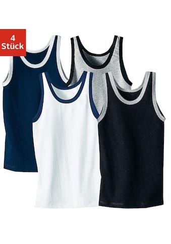 AUTHENTIC UNDERWEAR Unterhemd, (4 St.), mit kontrastfarbigen Einfassungen kaufen