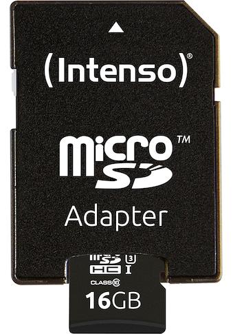 Intenso Speicherkarte »microSDHC UHS-I Professional + SD-Adapter«,... kaufen