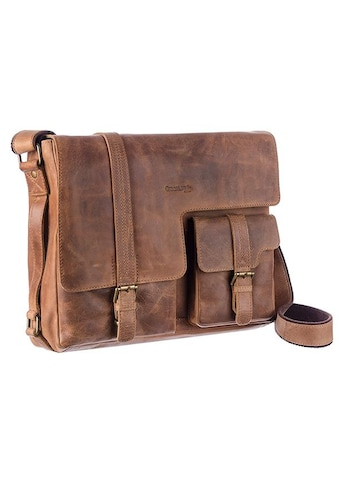 GreenLand Nature Messenger Bag »Montenegro«, aus Rindsleder mit Laptopfach kaufen