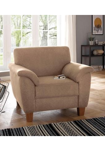 Home affaire Sessel »Alta«, mit Federkern und Kontrastnaht, Füsse Buche eichefarben kaufen