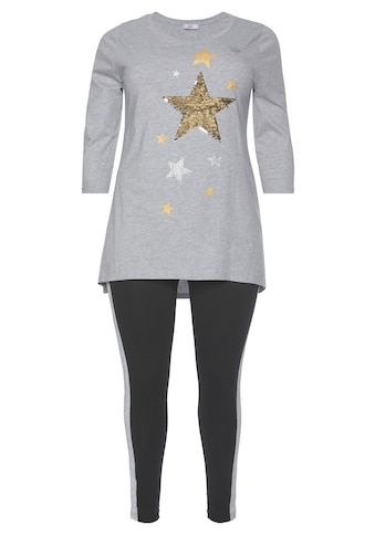 Flashlights Vokuhila - Shirt »X - mas Glitzer« (Set, 2 tlg., mit Leggings) kaufen