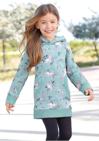 KIDSWORLD Sweatkleid »Einhorn«, mit Kapuze kaufen