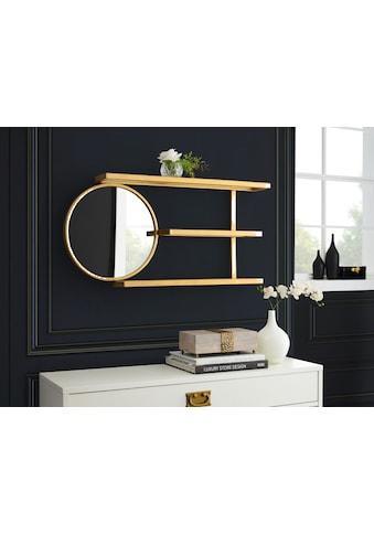 Leonique Wandregal »Moreen«, Zeitloses Design, 3 Ablageflächen, Spiegel kaufen