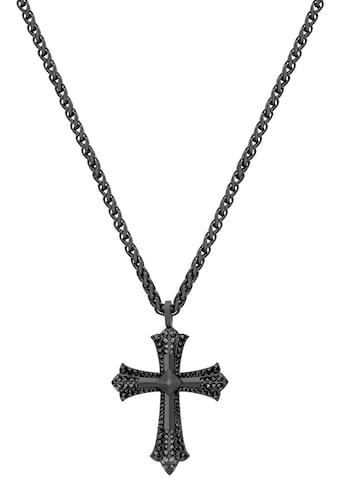 Police Edelstahlkette »Kreuz, KUDOS, PEJGN2112821, PEJGN2112822«, mit Glasstein kaufen