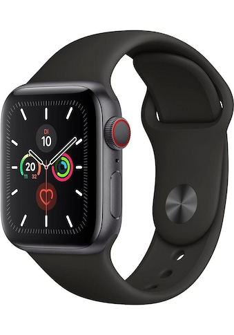 Watch Series 5 GPS + Cellular, Aluminium space grau, 40 mm mit Sportarmband, Apple kaufen