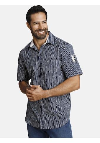 Jan Vanderstorm Kurzarmhemd »BODIL«, mit unregelmässigen Streifen kaufen