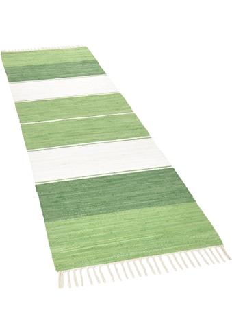 THEKO Läufer »Stripe Cotton«, rechteckig, 5 mm Höhe, Teppich-Läufer, Flachgewebe,... kaufen