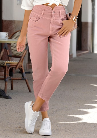 LASCANA Mom-Jeans, in Used-Waschung kaufen
