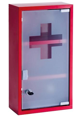 ZELLER Medizinschrank Metall, rot, 25x12x45 cm kaufen