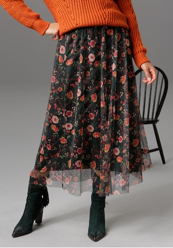 Aniston CASUAL Maxirock, mit romantischem Blumendruck - NEUE KOLLEKTION kaufen