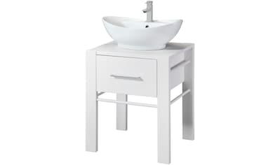welltime Waschtisch »Wien«, inkl. Becken und Handtuchstange, aus Massivholz kaufen