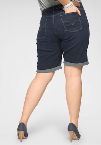 Levi's® Plus Jeansbermudas »Shaping Bermudas«, Shaping Bermuda mit Umschlag kaufen