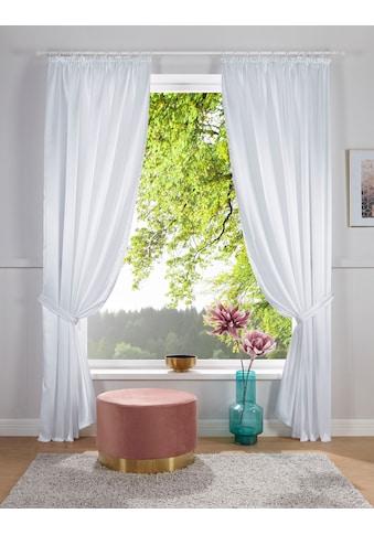 DELAVITA Vorhang »Glanzsatin«, Inklusive Raffhalter kaufen