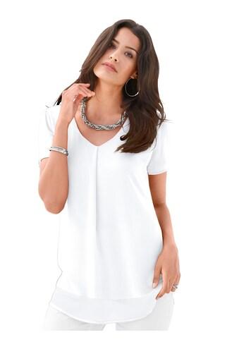 Création L Bluse aus leicht transparentem Chiffon kaufen