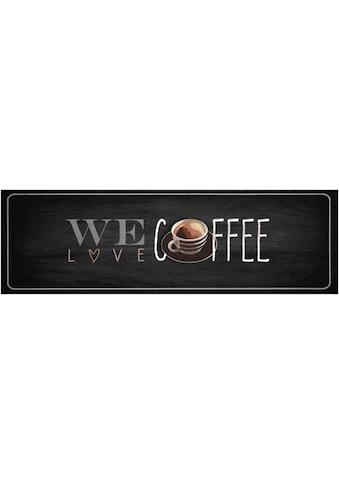 Küchenläufer, »We love Coffee«, Zala Living, rechteckig, Höhe 5 mm, maschinell getuftet kaufen