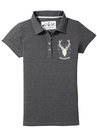 Hangowear Trachtenshirt, Damen mit attraktiver Hirschstickerei kaufen