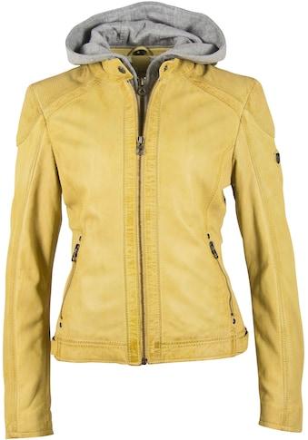 Gipsy Lederjacke »Abby«, mit abnehmbarer Kapuze & Details aus perforiertem Leder kaufen