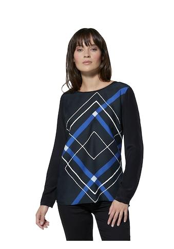 Creation L Viskose - Seiden - Bluse mit Karo - Motiv kaufen