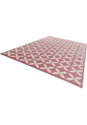 MINT RUGS Teppich »Cross«, rechteckig, 12 mm Höhe, Allover Kurzflor, Wohnzimmer kaufen