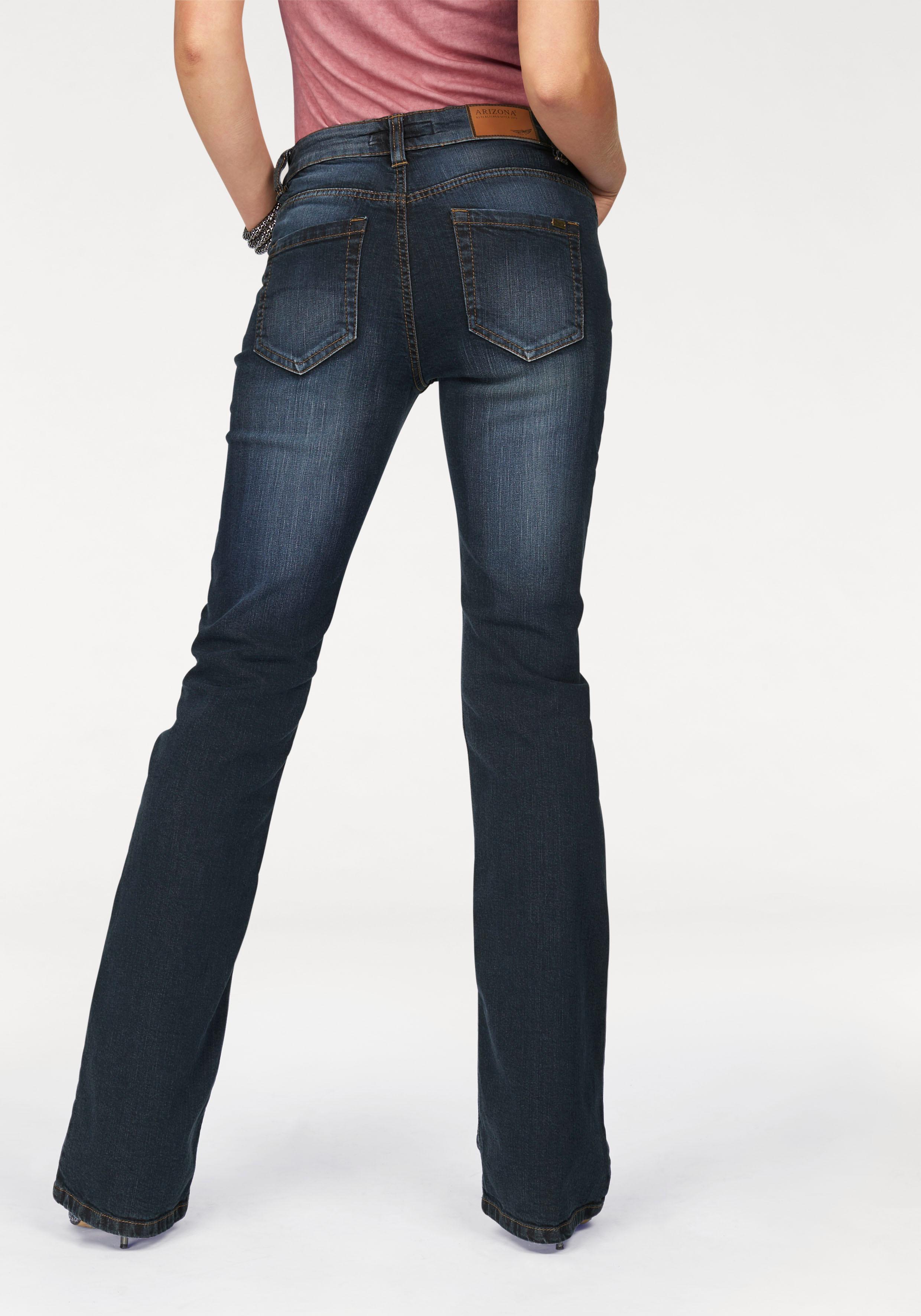 arizona bootcut jeans svenja bund mit seitlichem. Black Bedroom Furniture Sets. Home Design Ideas