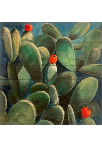 queence Holzbild »Cactus Love«, (1 St.) kaufen