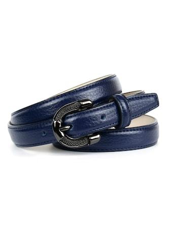 Anthoni Crown Ledergürtel, in schmaler Form, Schliesse mit Metallgeflecht kaufen