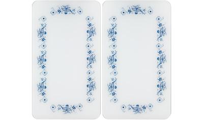 """WENKO Herd - Abdeckplatte """"Universal Blaue Rankblüten"""", Glas Kunststoff, (Set, 2 - tlg.) kaufen"""