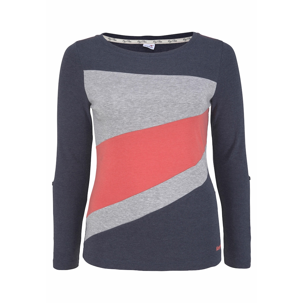 KangaROOS Longsleeve, mit Color Blocking Details vorne