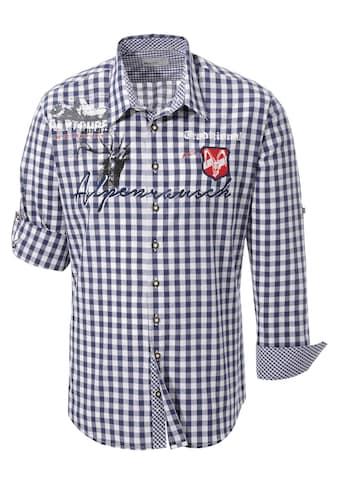 MarJo Trachtenhemd, mit Aufdruck und Applikation kaufen
