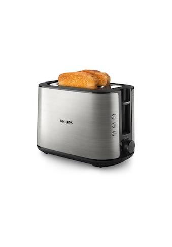Toaster, Philips, »Viva Collection HD2650/91 Schwarz/Edelstahl« kaufen