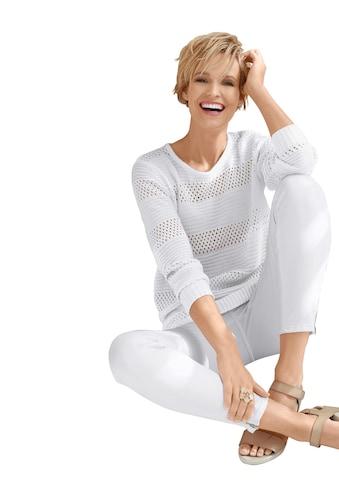 Classic Basics Pullover mit Rippbündchen an Ärmeln und Saum kaufen