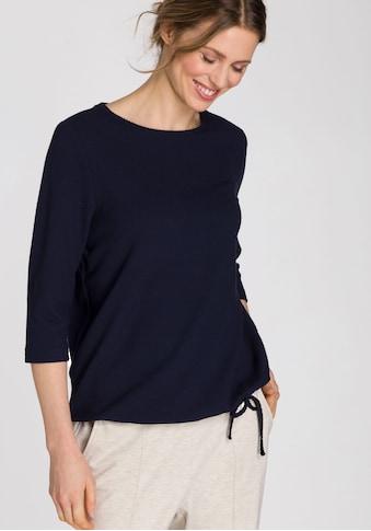 Olsen Sweatshirt, mit Wabenmuster und Bindeband am Saum kaufen
