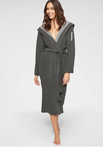 KangaROOS Damenbademantel »Dalia«, (1 St.), aussen Unifarben und innen mit Streifen kaufen