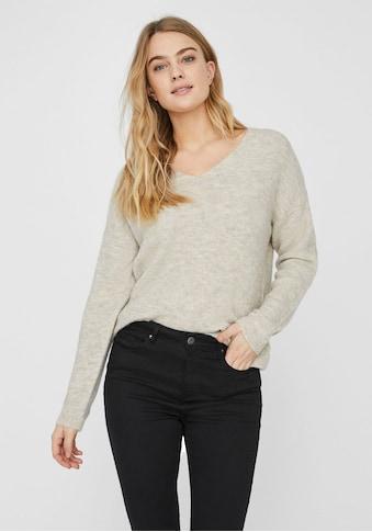 Vero Moda V - Ausschnitt - Pullover »VMCREWLEFILE« kaufen