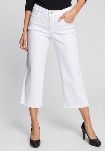 MAC Weite Jeans »Greta Fringes«, Weite Form mit abgesteppten Fransen kaufen