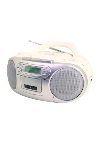 Soundmaster Digitalradio (DAB+) »Boombox SCD7900WE Weiss Silber Mehrfarbig«, (CD... kaufen