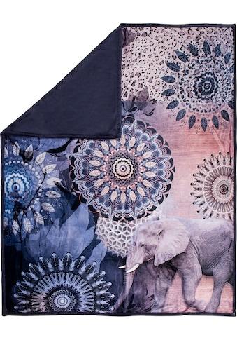 hip Plaid »Bjirke«, mit Mandala und Elefant kaufen