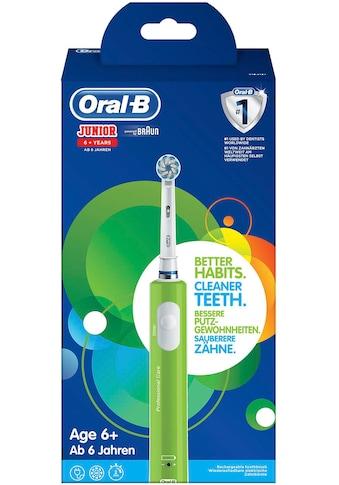 Oral B Elektrische Zahnbürste Junior Green, Aufsteckbürsten: 1 Stk. kaufen
