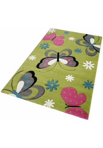 merinos Kinderteppich »GARTEMPE«, rechteckig, 13 mm Höhe, Schmetterlinge,... kaufen