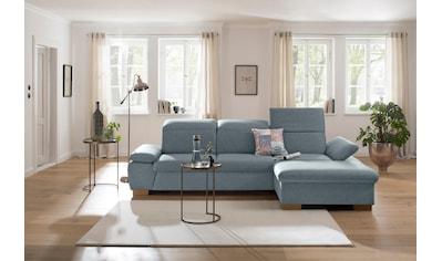 Home affaire Ecksofa »Maven«, mit Recamiere, Kopfteil- und Armlehn-Verstellung, Federkern kaufen