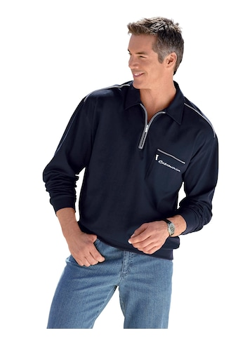 Marco Donati Langarm - Poloshirt mit kontrastfarbigen Akzenten kaufen