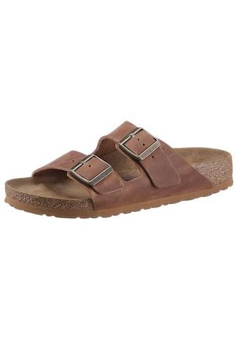 Birkenstock Pantolette »Arizona FL«, mit Korkfussbett, schmale Schuhweite kaufen