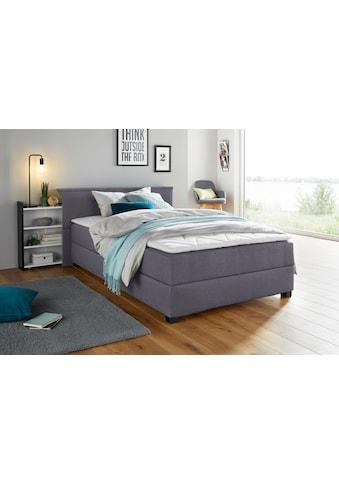 Breckle Boxspringbett, mit ausziehbarem Regal, Topper und Bettkasten kaufen