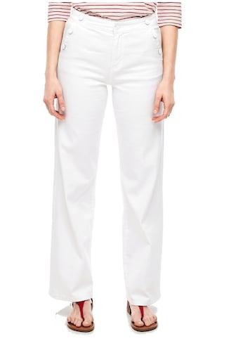 s.Oliver Weite Jeans, im Marlene-Look mit tollen Knopfdetails kaufen
