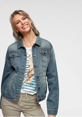 Aniston CASUAL Jeansjacke in Used - Waschung kaufen