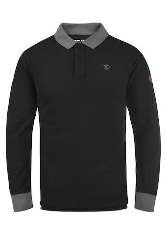 Blend Langarm-Poloshirt »Ralle«, Longsleeve mit verlängerter Rückenpartie kaufen